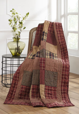 Rutherford Quilted Throw - Primitive Star Quilt Shop