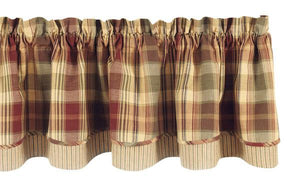 Saffron Layered Lined Valance 72""