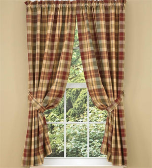 Saffron Lined Short Panel Curtains 63""