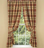"Saffron Unlined Short Panel Curtains 63"" - Primitive Star Quilt Shop"