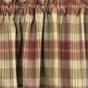 Saffron Unlined Tier Curtains 24""