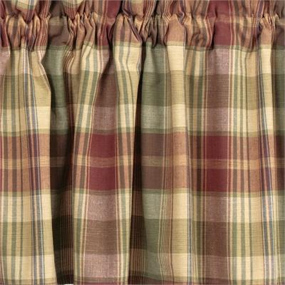 Saffron Unlined Swag Curtains - Primitive Star Quilt Shop - 1