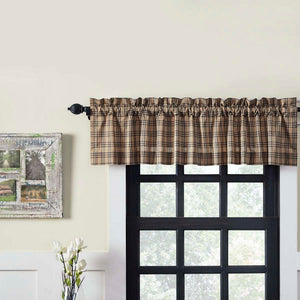 Sawyer Mill Charcoal Plaid Lined Valance 60""