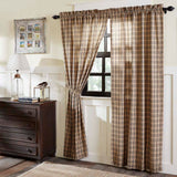"Sawyer Mill Charcoal Plaid Lined Panel Curtains 84"" - Primitive Star Quilt Shop"