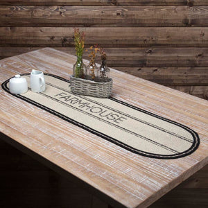 Sawyer Mill Charcoal Farmhouse Braided Runner 13x48""