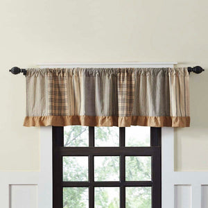 Sawyer Mill Charcoal Patchwork Lined Valance 72""
