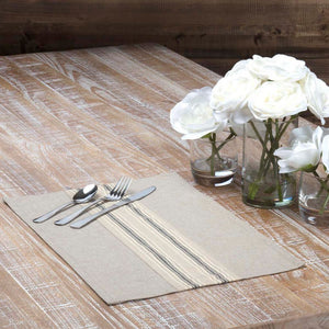 Sawyer Mill Charcoal Placemat - Set of 6