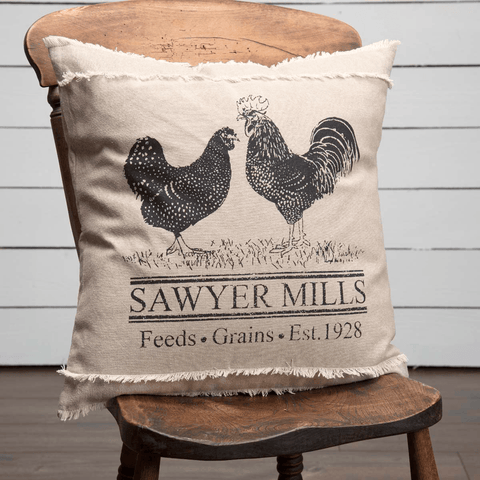 "Sawyer Mill Poultry Pillow 18"" Filled"