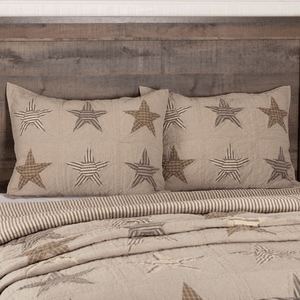 Sawyer Mill Star Quilted Standard Sham 21x27""