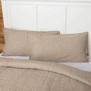 Sawyer Mill Charcoal Ticking Stripe King Sham 21x37""