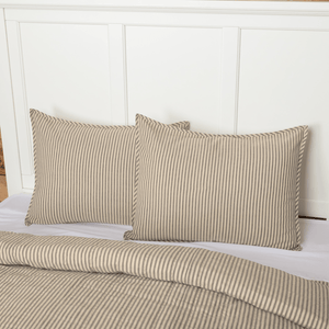 Sawyer Mill Charcoal Ticking Stripe Standard Sham 21x27""