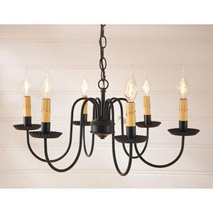 Sheraton Six-Arm Black Chandelier