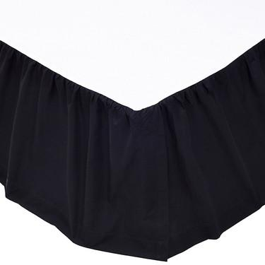 Solid Black Bed Skirt in 3 SIZES