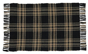 Sturbridge Black Rectangle Rug 24x42""