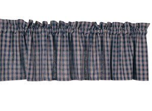 Sturbridge Navy Unlined Valance 72""