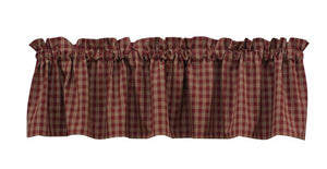 Sturbridge Wine Unlined Valance 72""