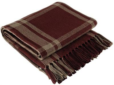 Sturbridge Wine Woven Throw