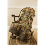 Tea Cabin Quilted Throw - Primitive Star Quilt Shop