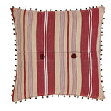 "Vintage Stripe Noel Pillow 16"" Filled - Primitive Star Quilt Shop"