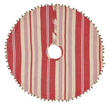 "Vintage Stripe Mini Tree Skirt 21"" - Primitive Star Quilt Shop"