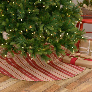 Vintage Stripe Tree Skirt 48""