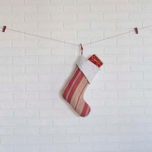 Vintage Stripe Stocking 11x15""