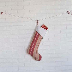 Vintage Stripe Stocking 11x20""