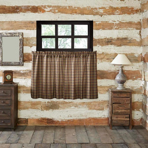 Wyatt Lined Tier Curtains 36""