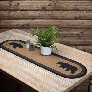 Wyatt Bear Braided Runner 13x36""