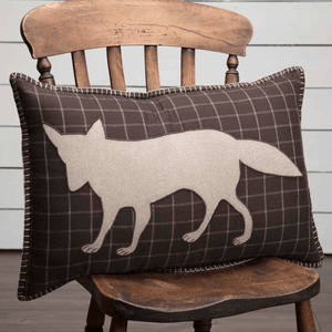 "Wyatt Fox Applique Pillow 14x22"" Filled"
