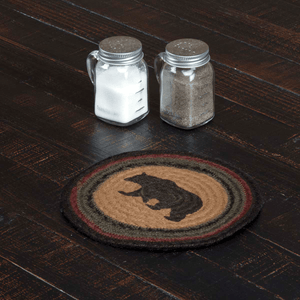 Wyatt Bear Braided Trivet 8""