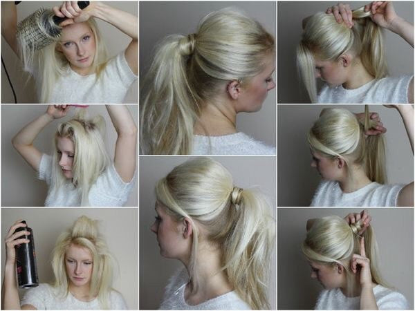 Messy ponytail in 5 minutes