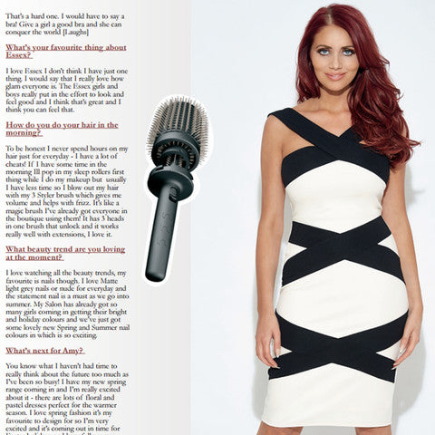 Amy Childs talks about her new favourite 3 in 1 blowdry hairbursh.
