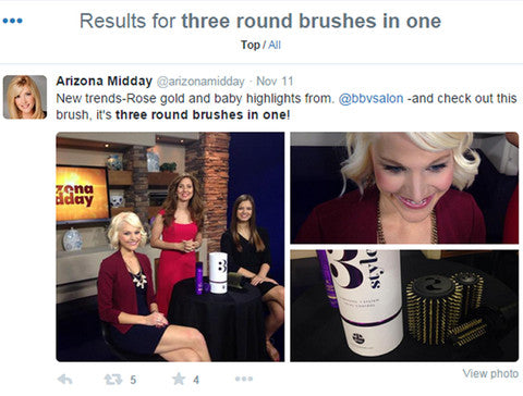 3 in 1 hairbrush the 3Styler, takes on Arizona, USA. Featured as new innovative product on Arizona Midday TV.