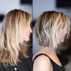 Long to short bob haircut