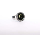 Vintage Authentic Typewriter Key Ring - Letter C