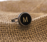 Vintage Authentic Typewriter Key Ring - Letter M