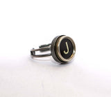 Vintage Authentic Typewriter Key Ring - Letter J