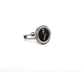 Vintage Authentic Typewriter Key Ring - key ? and /