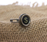 Vintage Authentic Typewriter Key Ring - Letter S