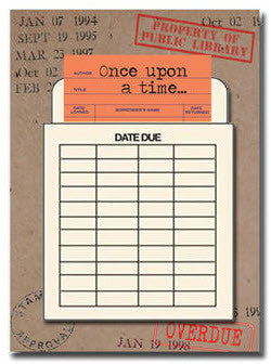 Once Upon a Time - Friends Greeting Card Library Card