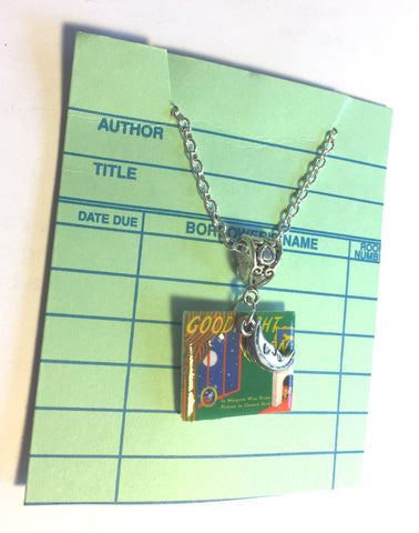 Goodnight Moon Book charm necklace