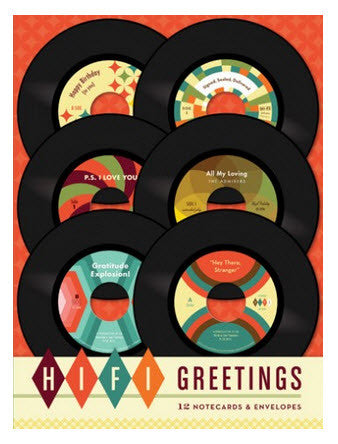 Hi-Fi Greetings boxed notecards