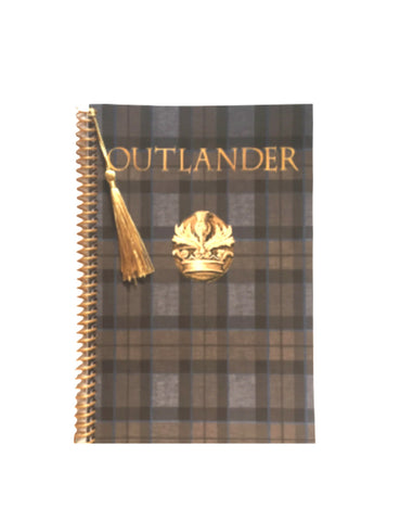 Outlander Fraser tartan notebook journal with crest