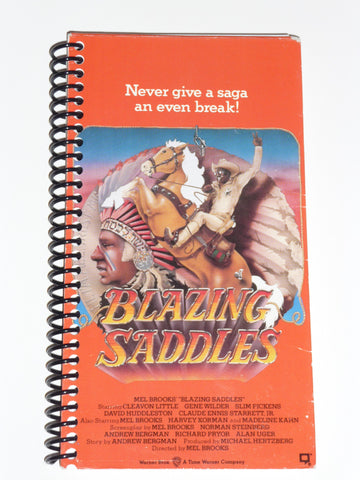 Blazing Saddles - VHS Movie notebook