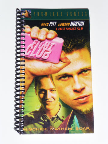 Fight Club  - VHS Movie notebook