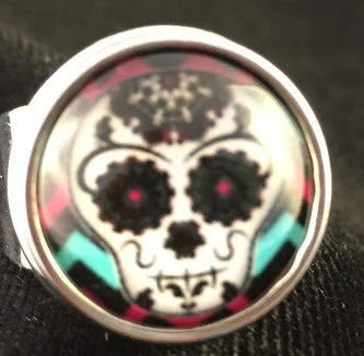 Day of the Dead Snap Button