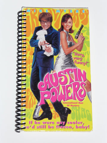 Austin Powers  - VHS Movie notebook