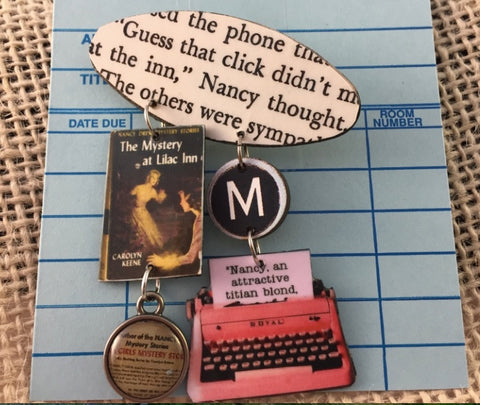 Nancy Drew Mystery at Lilac Inn Brooch Pin