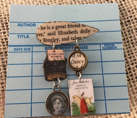 Pride & Prejudice - Jane Austen book Brooch Pin